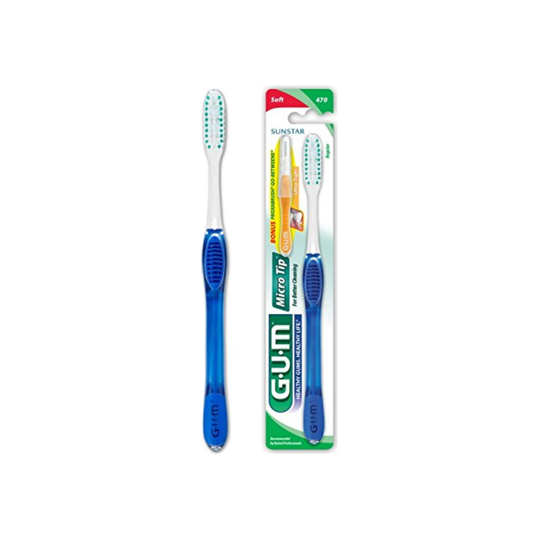GUM Micro Tip Toothbrush Soft/Full 1 Each