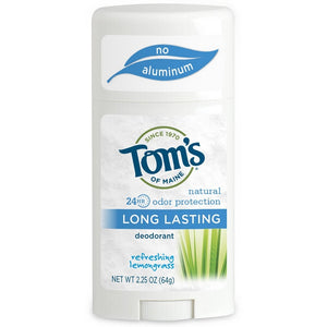 Tom's of Maine Natural Long Lasting Deodorant, Refreshing Lemongrass 2.25 oz
