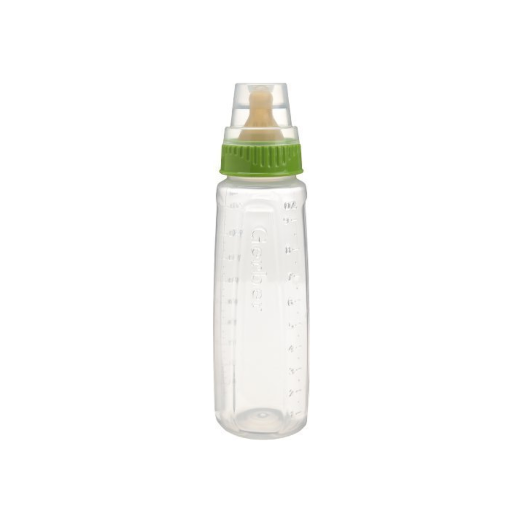 Gerber First Essentials Clearview Bottle with Vented Nipple, 1 ea (Color May Vary)