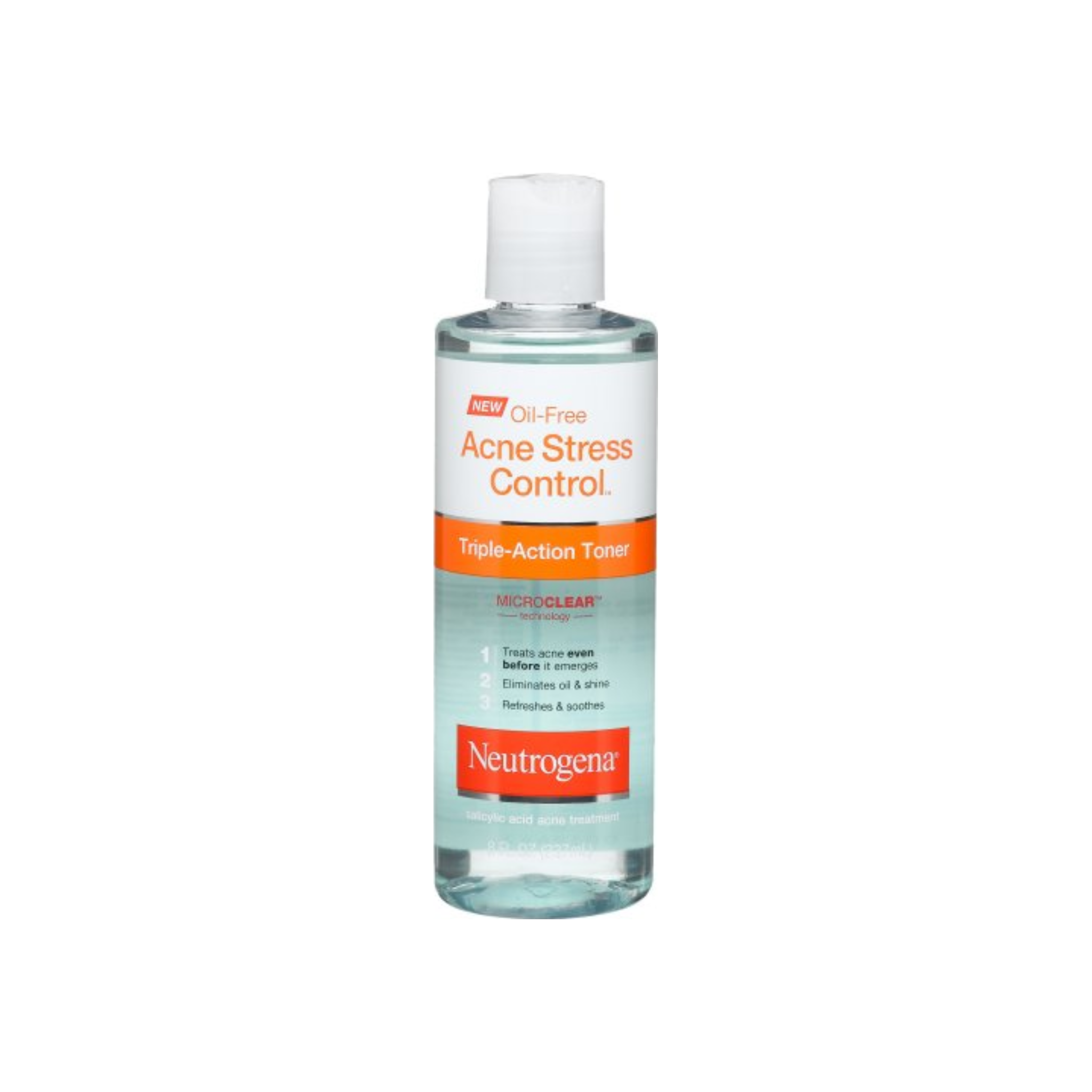 Neutrogena Oil Free Acne Stress Control Triple Action Toner 8 Oz