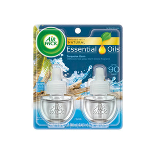 Air Wick Scented Oil Twin Refill Life Scents Turquoise Oasis (Driftwood/Sea Spray/Warm Breeze) (2X.67) oz