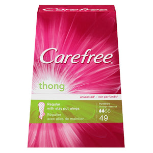 CAREFREE Thong Pantiliners, Regular Unscented 49 ea