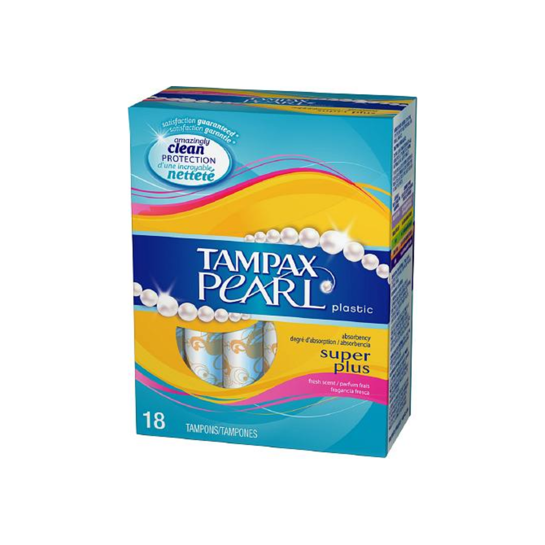 Tampax Pearl Tampons With Plastic Applicators, Super Plus Absorbency 18 ea