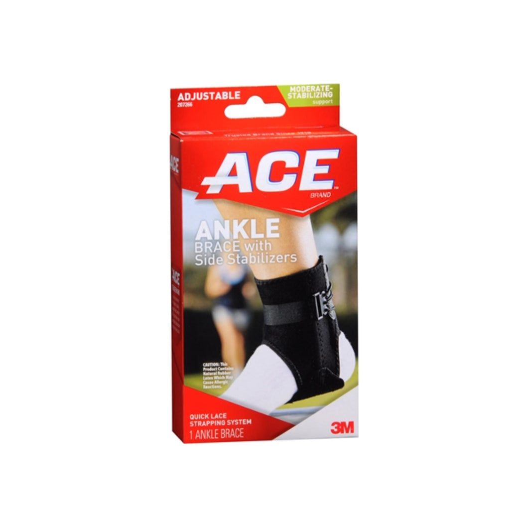 ACE Ankle Brace With Side Stabilizers One Size 1 Each