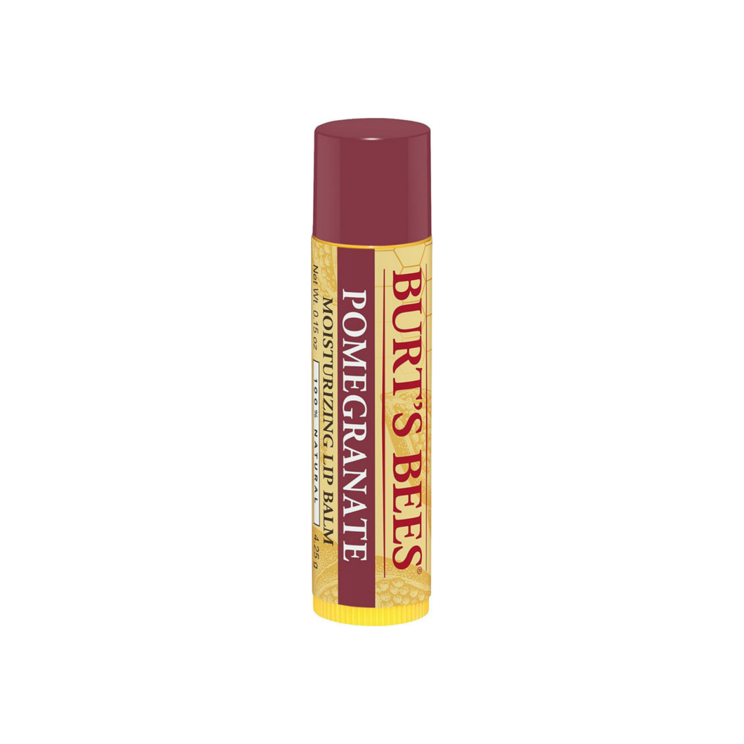 Burt's Bees 100% Natural Replenishing Lip Balm, Pomegranate Oil 0.15 oz [792850157996]