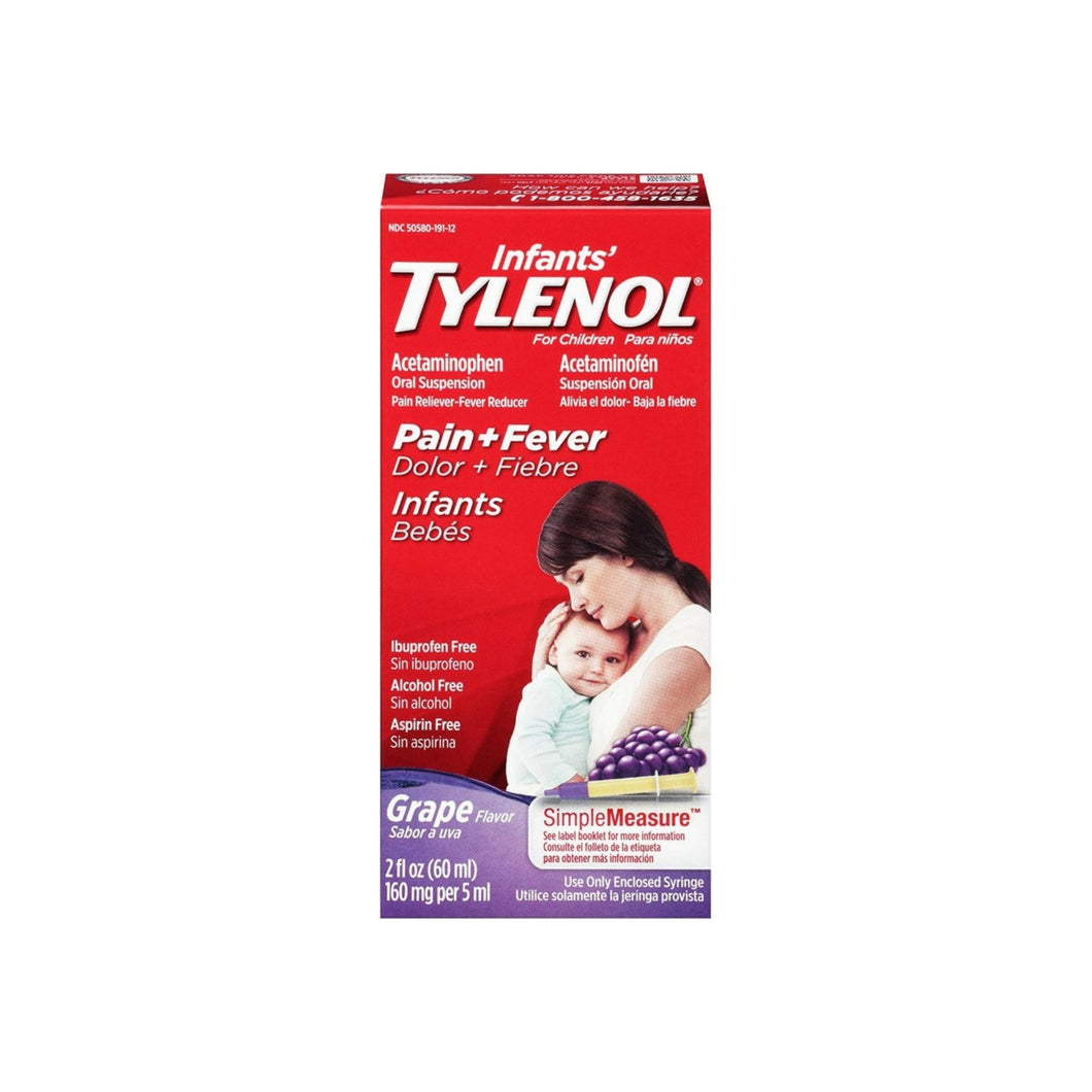 TYLENOL Infants' Tylenol Pain Relief Grape-Flavored Liquid  2 oz