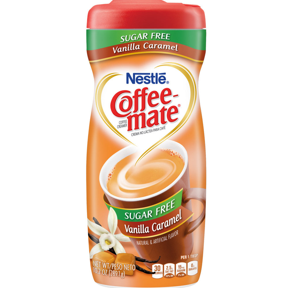 Coffee-Mate Vanilla Caramel, Sugar-Free Powdered Coffee Creamer 10.2 oz [050000334803]