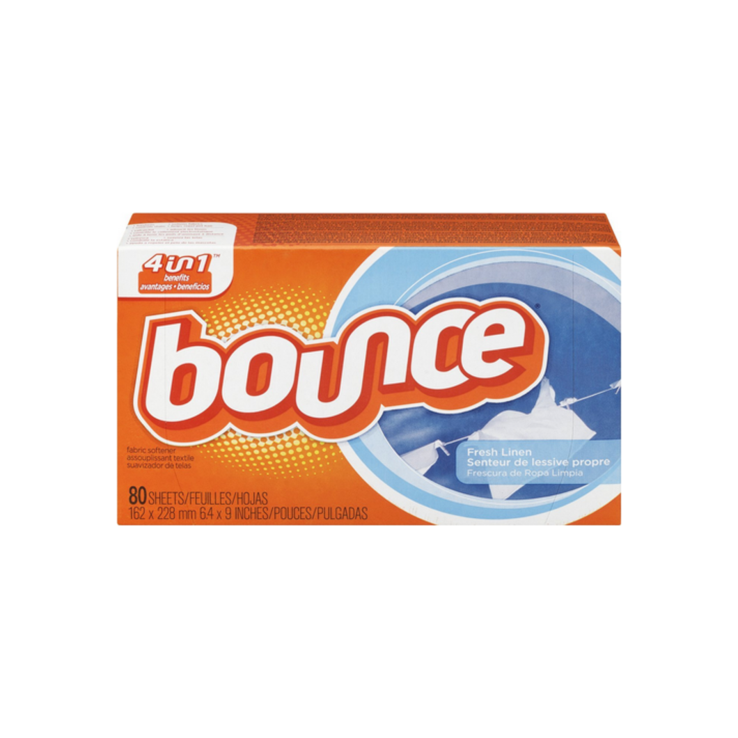 Bounce Fabric Softener Sheets, Fresh Linen 80 ea
