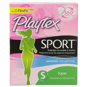 Playtex Sport Unscented Super Absorbency Tampons 18 ea