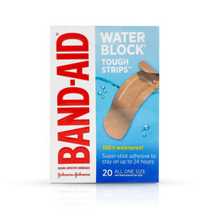 BAND-AID Waterproof Tough-Strips Bandages 20 ea