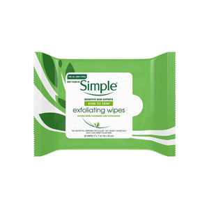 Simple Exfoliating Facial Wipes 25 Each