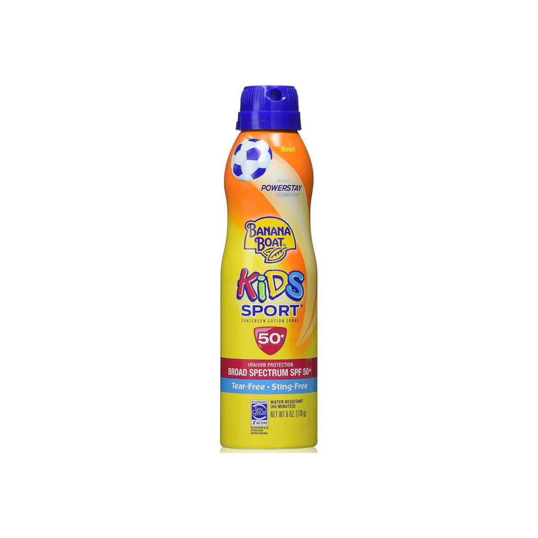 Banana Boat Kids Sport Continuous Sunscreen Lotion Spray SPF 50+ 6 oz