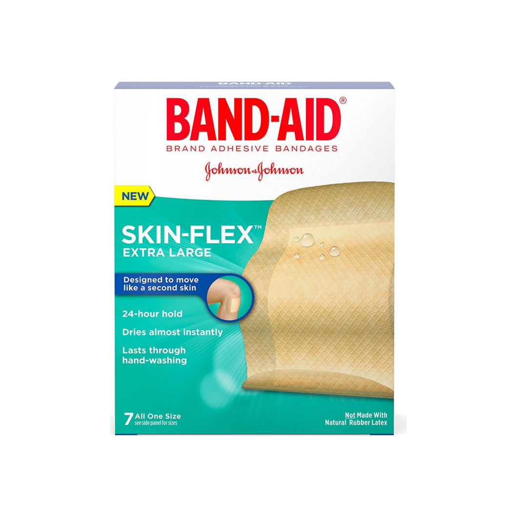 BAND-AID Skin-Flex Adhesive Bandages, Extra Large 7 ea