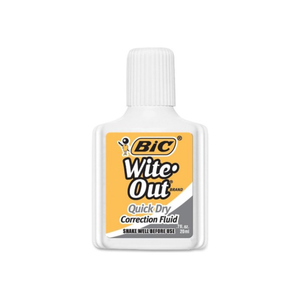 Bic Wite-Out Quick Dry White 1 Each