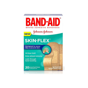 BAND-AID Skin-Flex Adhesive Bandages, Assorted Sizes 20 ea