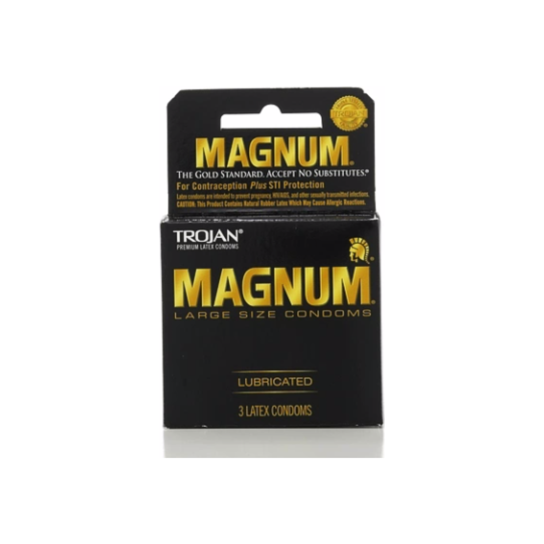 TROJAN MAGNUM Condoms Large Lubricated Latex 3 Each