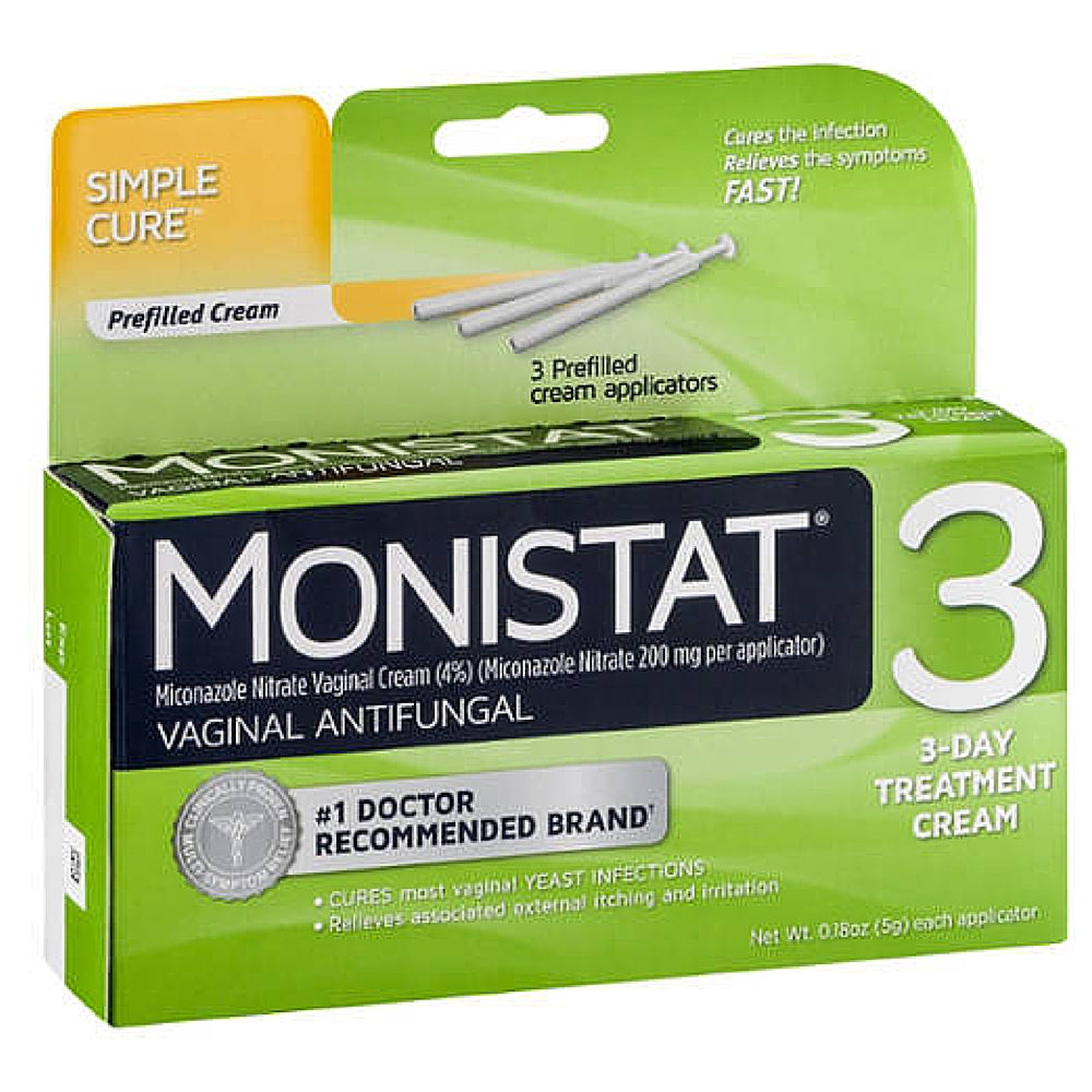 MONISTAT 3 Vaginal Antifungal Cream, Prefilled Applicator 3 ea