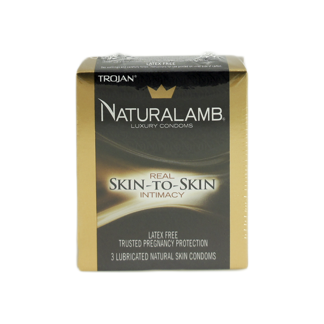 Naturalamb Natural Skin Condoms Lubricated 3 Each