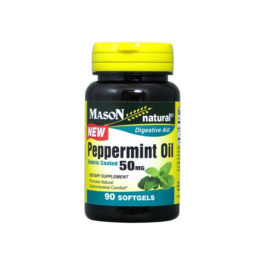 Mason Natural Peppermint Oil Enteric Coated Soft Gels, 50MG 90 ea