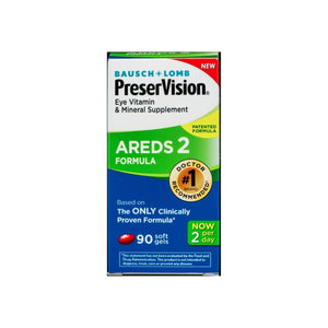 Bausch & Lomb Preser Vision Eye Vitamin & Mineral Supplement AREDS 2 Formula Softgels 90 ea