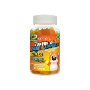 21st Century Zoo Friends Multi Gummies Plus Extra C 60 ea