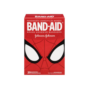 BAND-AID Marvel Spiderman Adhesive Bandages, Assorted Sizes 20 ea