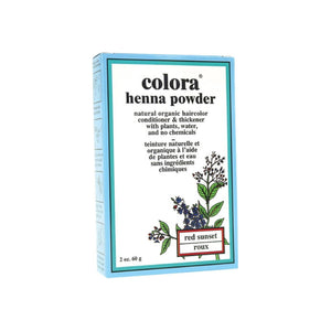 Colora Henna Powder Hair Color, Red Sunset 2 oz