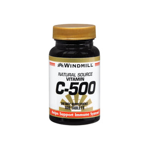 Windmill Vitamin C-500 Tablets Natural Source 100 Tablets