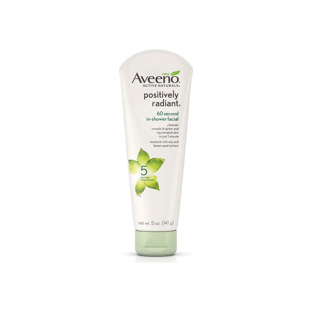 Aveeno Active Naturals Positively Radiant 60 Second In-Shower Facial Cleanser 5 oz