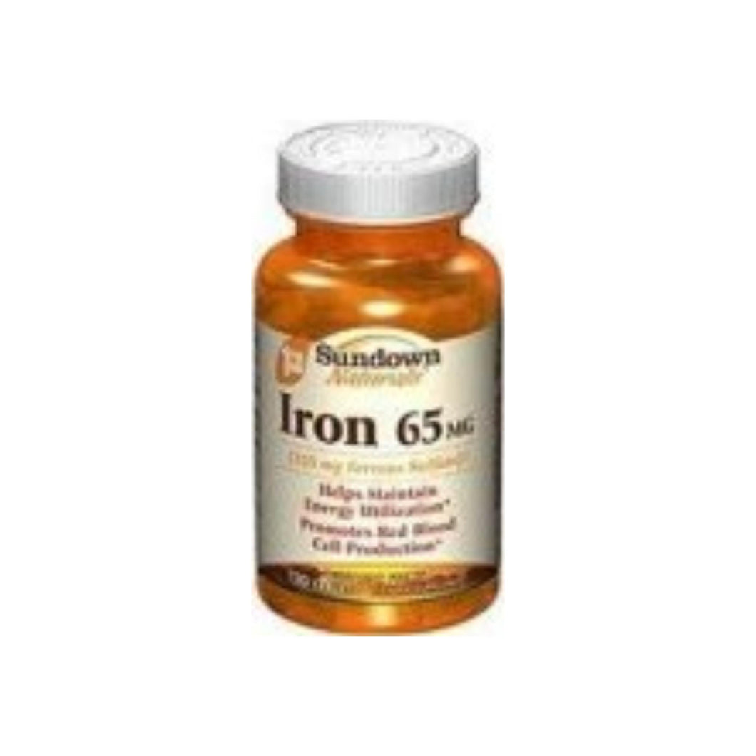 Sundown Naturals Iron 65 mg Tablets 120 Tablets