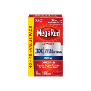 Megared Advanced Triple Absorption Omega-3 Softgels 800 mg 80 ea