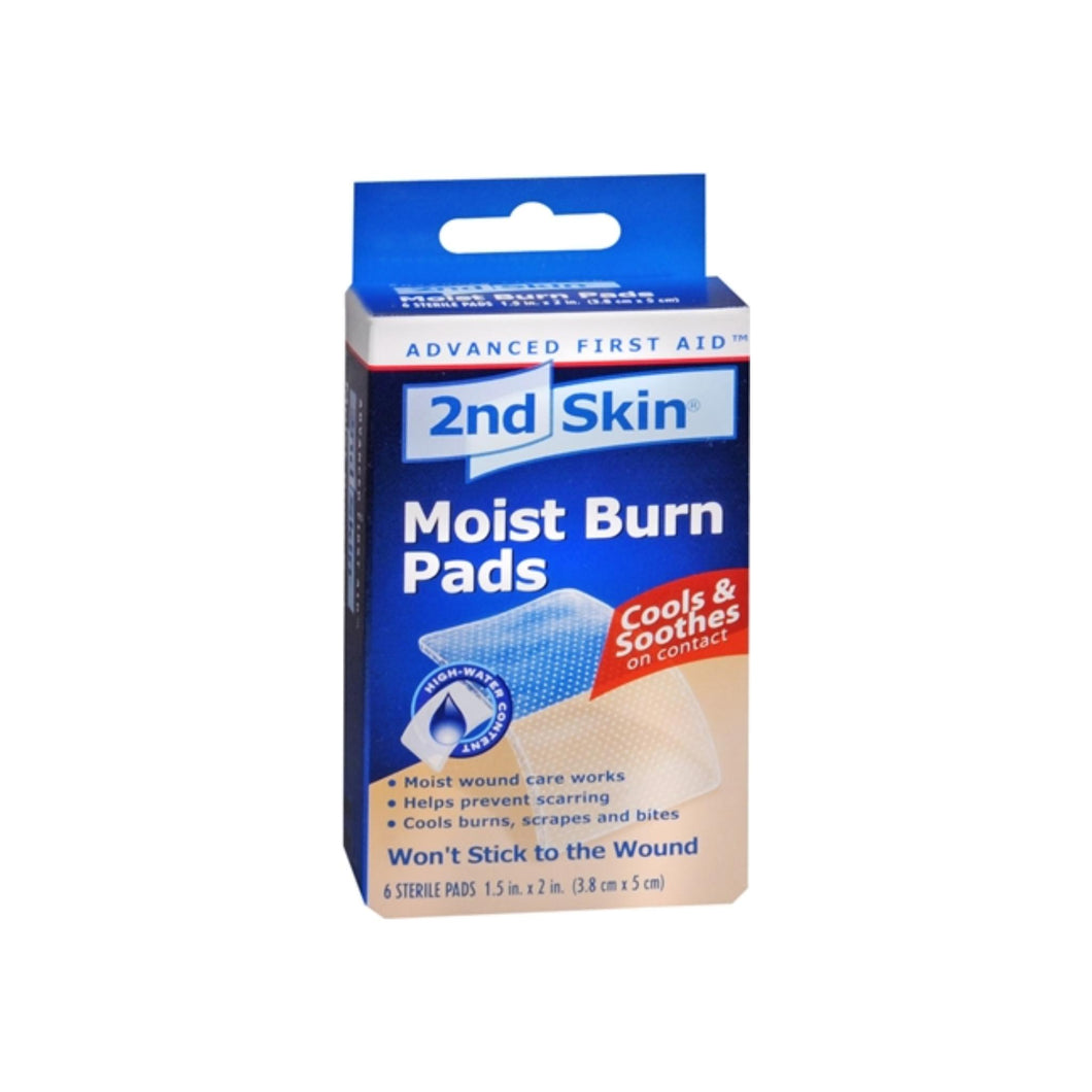 2nd Skin Moist Burn Pads 1.5 Inches X 2 Inches 6 Each - Pharmapacks