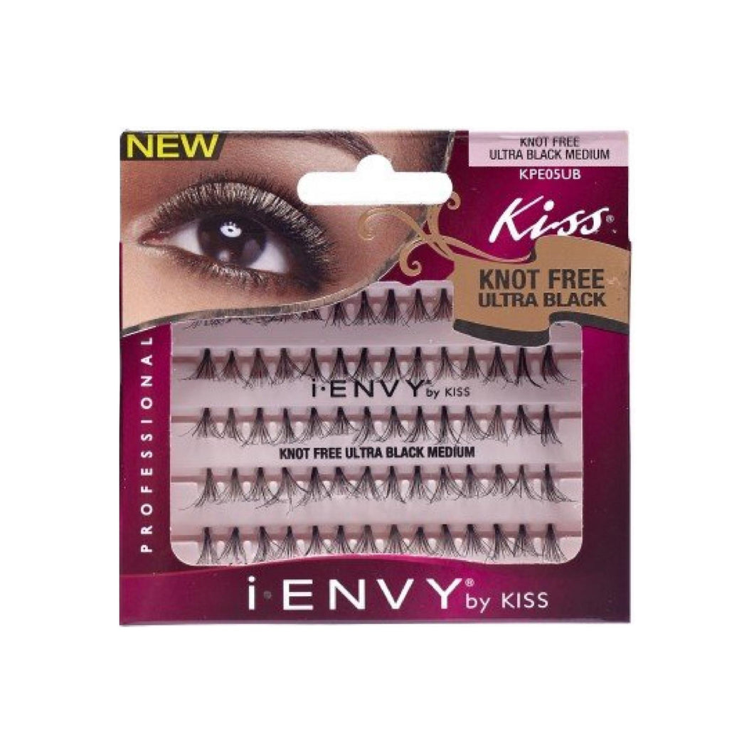 KISS I Envy Knot Free Medium Lashes, Ultra Black 70 ea