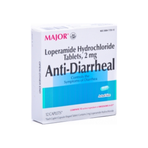 MAJOR Anti-Diarrheal Caplets 12 Caplets