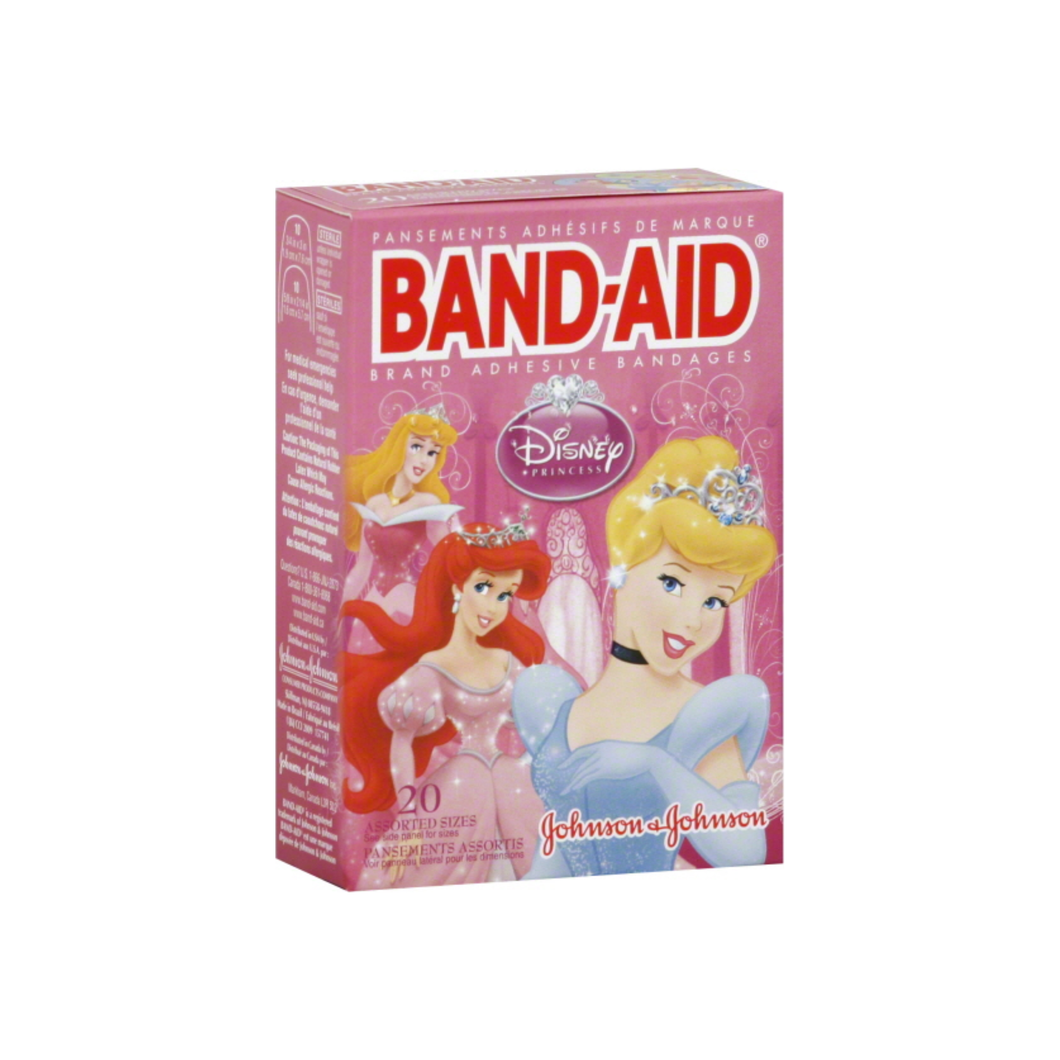 BAND-AID Children's Adhesive Bandages, Disney Princess, Assorted Sizes 20 ea