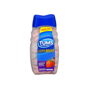 TUMS Ultra 1000 Tablets Assorted Berries 160 Tablets