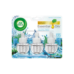 Air Wick Scented Oil Air Freshener, Fresh Waters Scent, Triple Refills, 0.67 oz