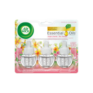 Air Wick Scented Oil Air Freshener, National Park Collection, Virgin Islands, Triple Refills, 0.67 oz