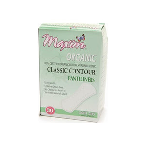 Maxim Hygiene Products Organic Classic Contour Pantiliners, Light Days, Unscented  30 ea