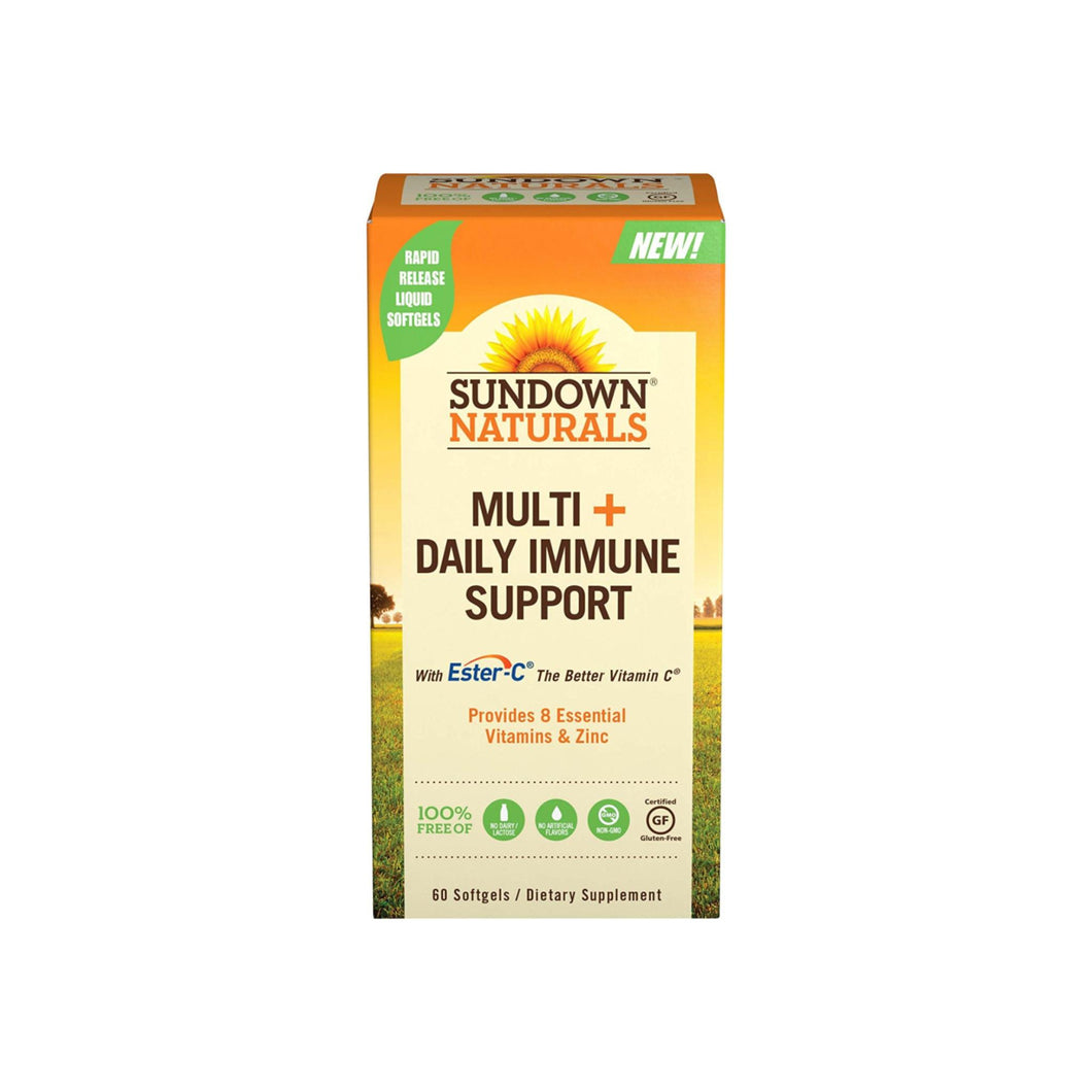 Sundown Naturals Multi+Daily Immune Support Softgels 60 ea