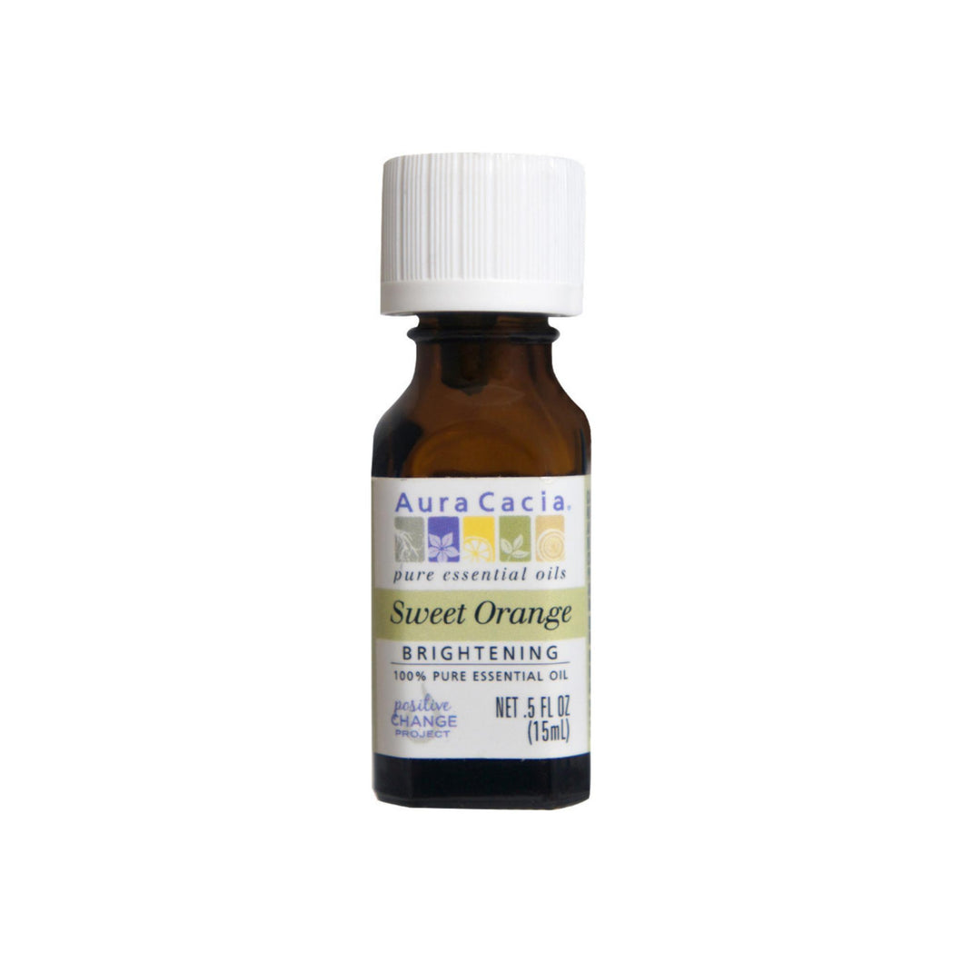Aura Cacia 100% Pure Essential Oil, Brightening Sweet Orange 0.50 oz