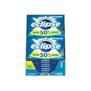 Eclipse  Sugar Free Gum Peppermint 8 packs (18 ct per pack)