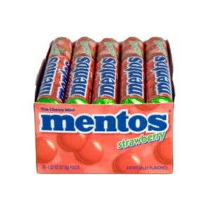Mentos  Strawberry Roll 15 Rolls (1.32 oz per roll)