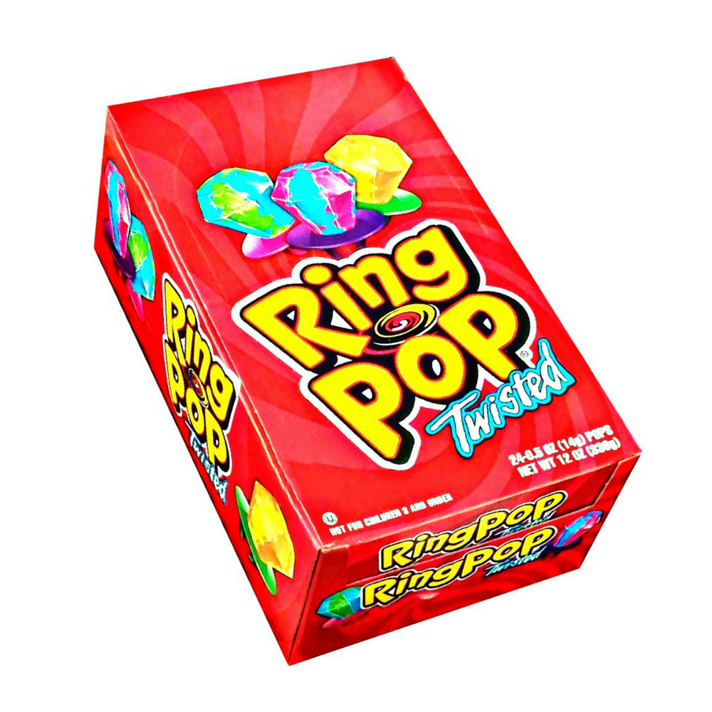 Ring Pop Twisted Fruit 24 ct