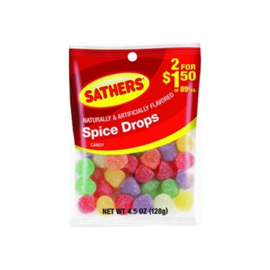 Sathers Spice Drops 12 pack (4.5oz per pack)