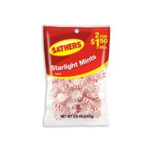 Sathers Starlight Mints 12 pack (3.6oz per pack)   [075602101493]