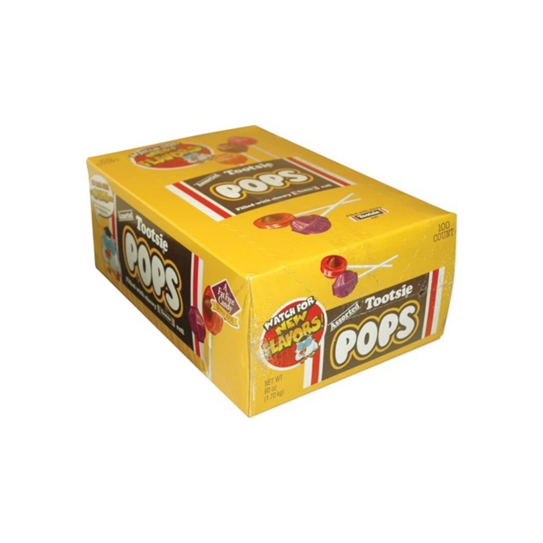 Tootsie Roll Assorted Pops  100 ct