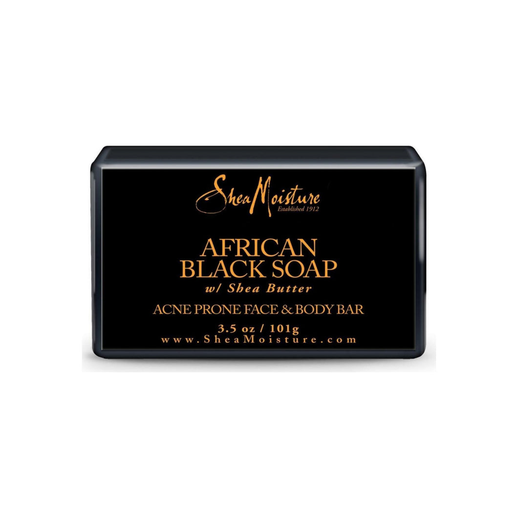 Shea Moisture African Black Soap Facial Bar Soap 3.5 oz