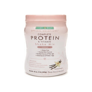 Nature's Bounty Optimal Solutions Complete Protein & Vitamin Shake Mix, Vanilla 16 oz