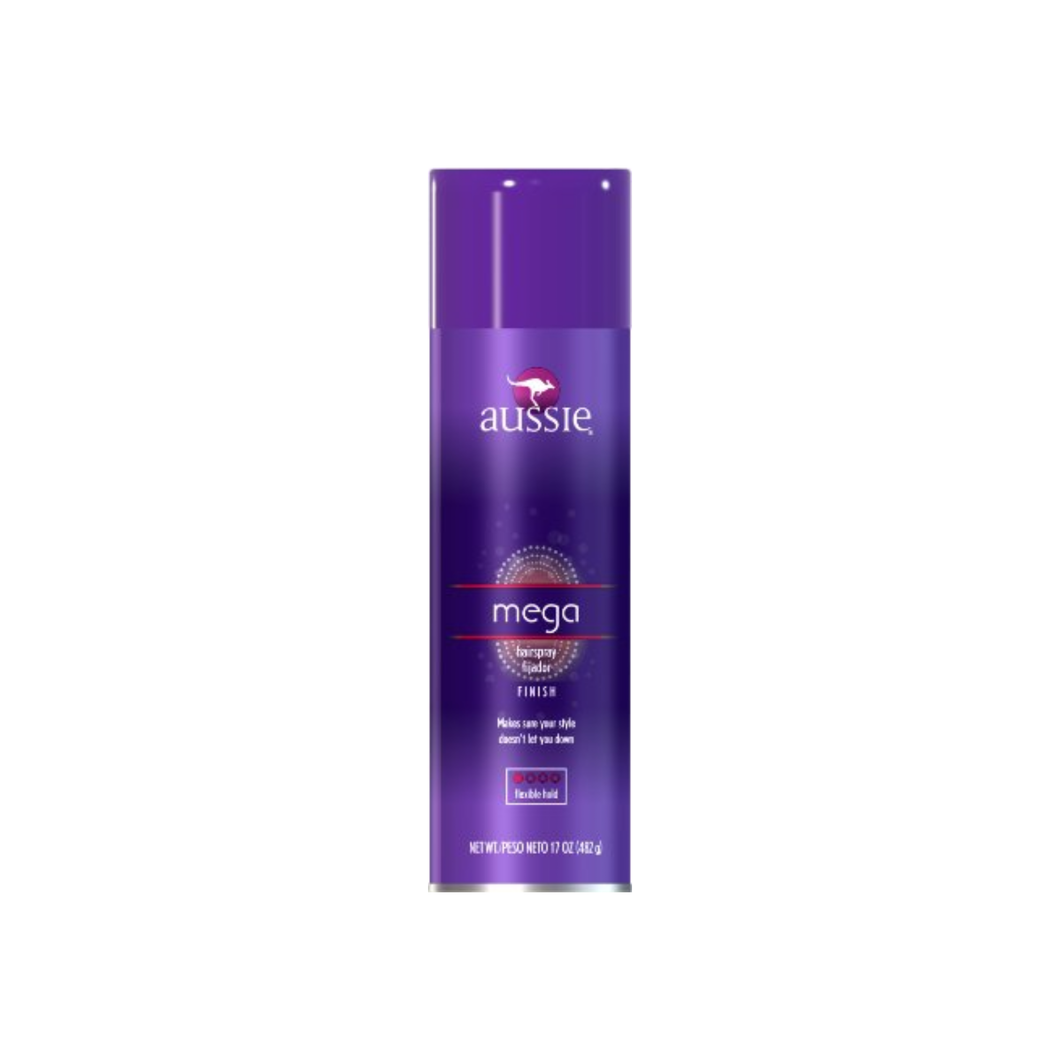 Aussie Mega Hair Spray Flexible Hold 17 oz
